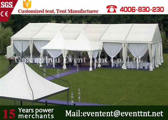 China Clear Span Wide Outdoor Event Tent Aluminum Frame With Sandwich Panel Walls supplier