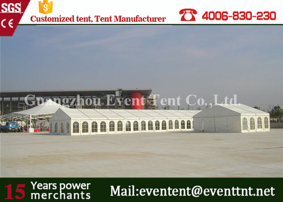 China Glass Wall Panel Custom Sport Event Tent , Heavy Duty Tent With 600 Square Meters supplier