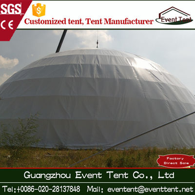 35m hot galvanized steel frame PVC roof large dome tent for event party 1000 people capacity