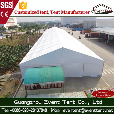 30m White Big Outdoor Warehouse Tent 850 gsm Locked - Out Sunshine Roof Cover