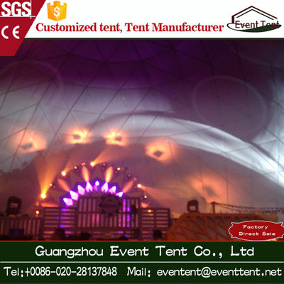China Transparent Geodesic Dome Tent Outdoor Event Tent For Over 1000 People supplier
