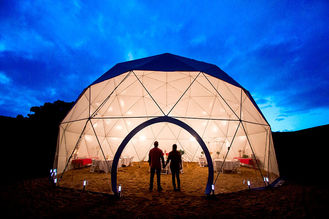 China Customized Geodesic Dome Tent Camping Tents With Aluminum Frame supplier