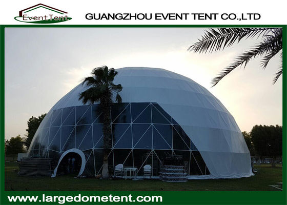 50m Diameter Geodesic Dome House Custom Wedding / Event Tents With Glass Door