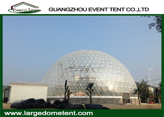 China Transparent Outdoor Geodesic Large Dome Tent With Waterproof PVC supplier