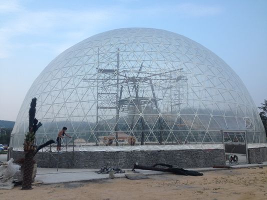 China 35m Aluminum Structure Transparent Large Dome Tent With PVC Coated supplier