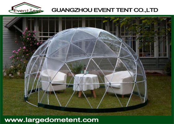 China Aluminum Frame Prefab Large Glass Dome Tent Garden House For Party supplier