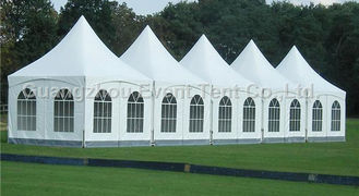 China 10x10 15x15m Luxury White Pagoda Party Tent , Wedding EXhibition Tents supplier