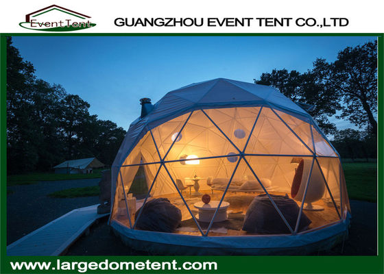 China Prefabricated Clear Top Lightweight Geodesic Tent For Outdoor Living supplier