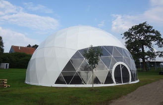 China Large Metal Frame Waterproof PVC Cover Geodesic Dome Tents 100Km/h supplier