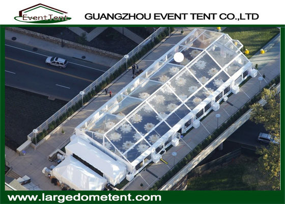 500 People Luxury Wedding Marquee , Temporary White Wedding Tent With Curtain