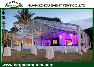 Customized Clear PVC Roof Wedding Party Tent With Glass / PVC Door
