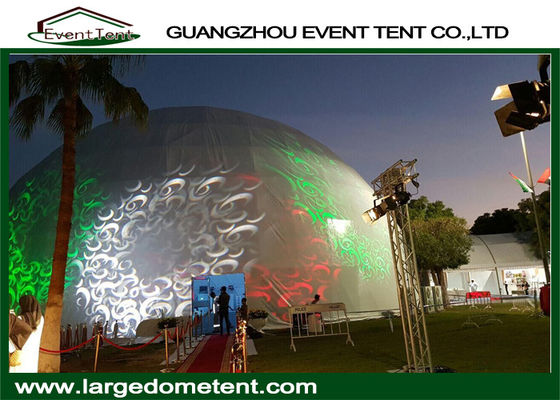 White PVC Fabric Outdoor Geodesic Large Dome Tent With Steel Frame