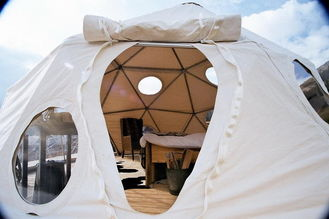 China Outdoor Event / Exhibition Luxury Camping Tent Geodesic Dome Tents ISO / SGS supplier