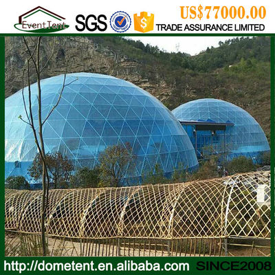 China 30m Diameter Fiberglass Large Dome Tent House For Party / House Living supplier
