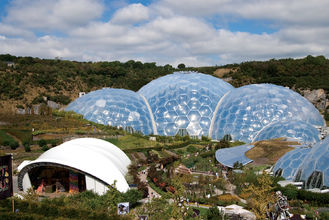 China New Design Large Tensile Membrane Structure Dome Tent For ETFE Greenhouse Film supplier