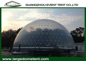 China 20m Diameters Round Geodesic Dome Tents With Clear PVC Fabric supplier
