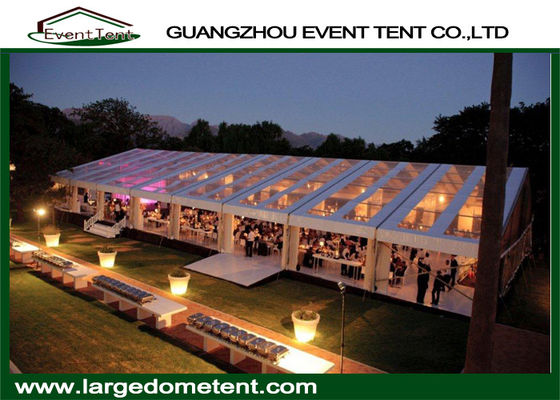 China 600 People Custom Outdoor Wedding Party Tent With Transparent Roof supplier