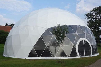 China Waterproof Eco Military Trade Show Large Dome Tent 30m Diameter supplier