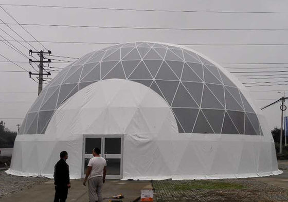 UV Resistant / Waterproof Dome Shelter Tent Round Shaped With PVC Coated Cover Fabric