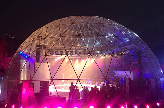 China Galvanized Steel Tube 360 Projection Screen Large Dome Tent , 100 Feet Diameter supplier