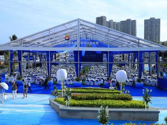 China Long Life 20x40 Anti - Corrosion Transparent Wedding Tent With Clear Roof supplier