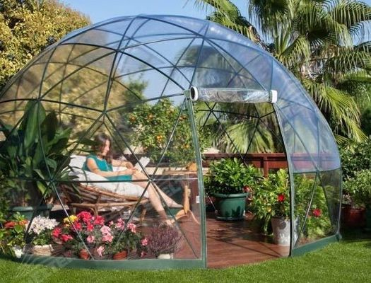 China Clear Roof Igloo Garden Dome Houses Camping Resort Glass Dome Tent supplier