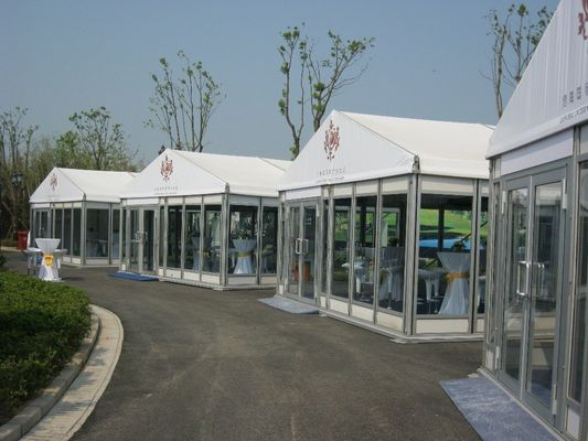 China Clear Roof 20x30 Outdoor Wedding Party Tent With Hot Dip Galvanized Steel Pipes supplier