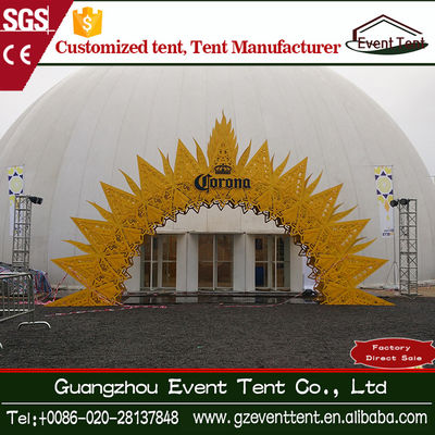 China Rustless Diameter 35m White Large Party Dome Tent With Sandwich Wall supplier
