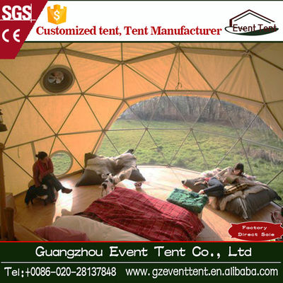 China Economic Functional Waterproof Fire Retardant Geodesic Dome Tent supplier