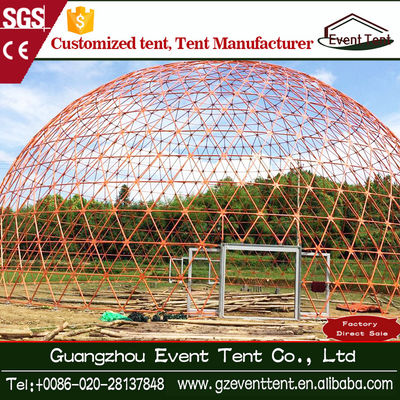 Diameter 25 M Big Colorful Circus Geodesic Dome Tent For Wedding Party