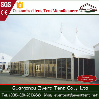 Waterproof Sunscreen Large Outdoor Aluminum Tent With Glass Wall