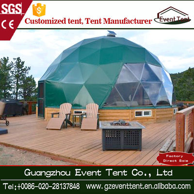 Diameter 4 M-6m Luxury Decoration Italy Green Geodesic Dome Tent For 5-6 People Party