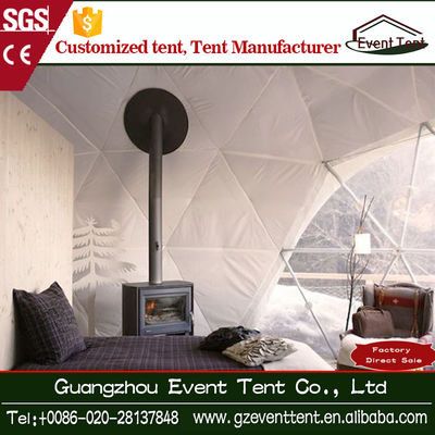 Outdoor 6-8 Person Family Camping Tents , White PVC Steel Frame Tent