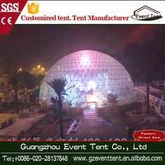 Steel Q235 Frame Geodesic Dome Tent Hotel / Fashion Party Ten
