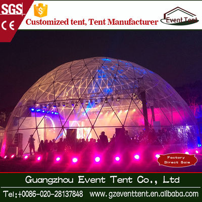 Dia 20 Transparent Clear Roof Geo Dome Tent With Glass Window