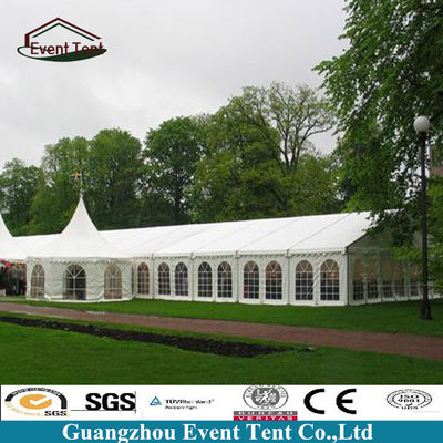 China Luxury Large White Wedding Tent , Waterproof Outside Canopy Tent supplier