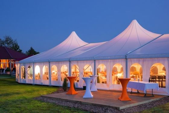 China Waterproof High Peak Tent , Outdoor Marriage Decoration Wedding Tent supplier
