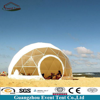 Clear Roof Beach Shelter Geodesic Dome Tent With PVC Coated Polyester Fabric