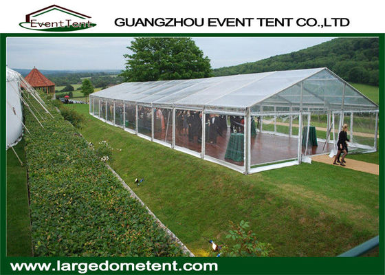 Classic Banquet Big Clear Roof Wedding Party Tents With Glass Wall