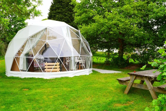 Transparent PVC Half Sphere 25m Geodesic Dome Tent For Party / Wedding