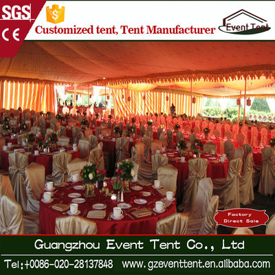 PVC Coated Polyester Fabric 15 X 30m Wedding Decoration Tent 500 Seat
