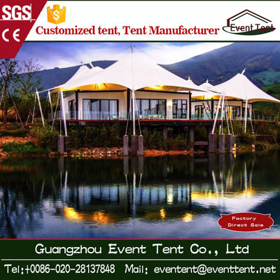 Outdoor Family Luxury Camping Tent 10x10 , Hot Dip Galvanized Steel Frame Tent