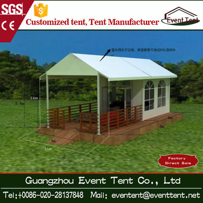 Trade Show / Wedding Part 6mx6m Luxury Camping Tent With Clear Glass Walls