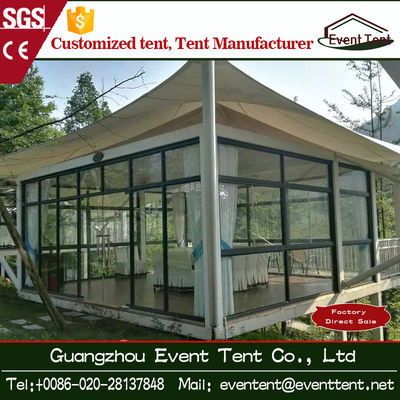 Pvc Outdoor Exhibition / Igloo Camping Tents , 6x6m Pagoda Tent