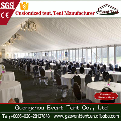 China Popular Aluminium Structure White Catering Wedding Party Tent supplier