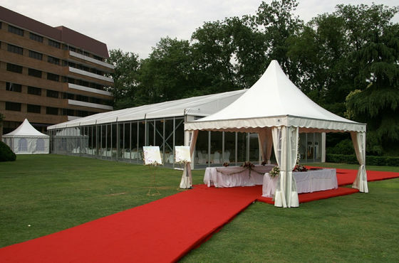 China Aluminum Frame 6m Pagoda Party Tent , Custom Marquee Wedding Tent supplier