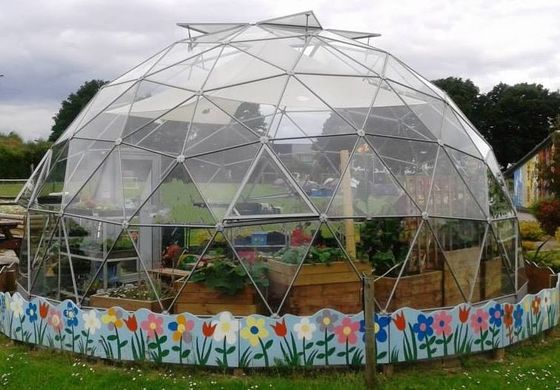 Glass Geodesic Dome Tent Half Sphere Glaming Tent With Igloo Frame