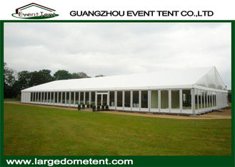 Elegant White PVC 300 People Outdoor Trade Show Tents With Glass Walls