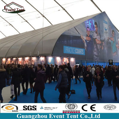 China 36x65m German Large Curved TFS Tent Large Outdoor Tent For Football Court supplier