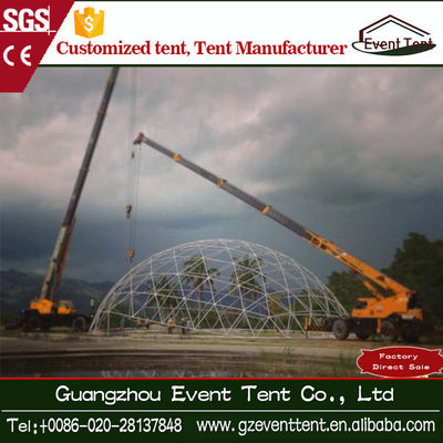 Customized Music Festival Large Dome Tent , Rustless White Geodesic Dome Tent